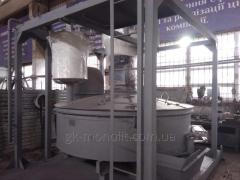 Смесительный блок бетонного завода АБЗУ-40
