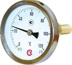 Термометр биметаллический (осевой штуцер G