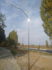 "Lighting poles park ""Odessa"" with linear LED lamp"