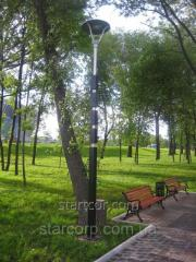 "Lighting support park ""Sepia"" with decorative LED lamp"