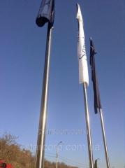 "Stainless steel flagpole banner 6m bar ""G""..."