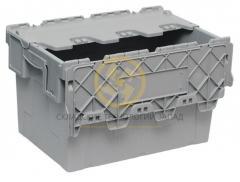 Ящик 600*400*365 сплошной с крышкой Серый