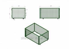Металлический сетчатый контейнер под поддон