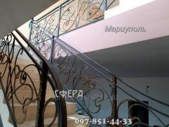 Металлические лестничные ограждения, балконные