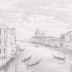 Панно KERAMA MARAZZI 75х75х9 Город на воде Venice, из 3 частей 25х75 (12109R\3x\3F)