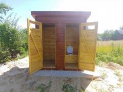 Деревянный туалет. Летняя душевая кабина