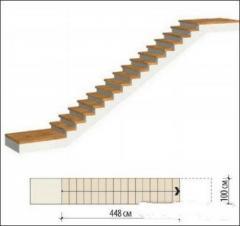 Одномаршевая прямая железобетонная лестница Киев,