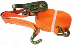 Belt tensioning, detaching force of 0.9 m to 7.5