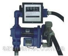 TH-OP 12/24-30/75 - Мобильная заправочная станция на бочку для бензина с расходомером, 12/24 В, 30/75 л/мин