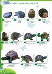 Садовые фигуры, Ежи, Черепахи, высота от 16 до 110