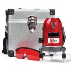 Уровень лазерный Проф. 5 лазерных головок ,звуковая индикация INTERTOOL MT-3011
