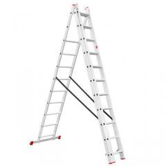 Лестница алюминиевая 3-х секционная универсальная раскладная 3*11ступ. 7.33м INTERTOOL LT-0311