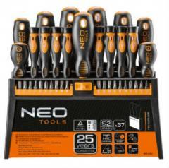 Отвертки и насадки, набор 37 шт. NEO 04-210