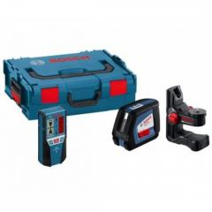 Линейный лазерный нивелир (построитель плоскостей) Bosch GLL 2-50 + BM1 (новый) + LR2 в L-Boxx (0601063109)