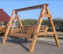 Bench suspended wooden (a swing garden), without