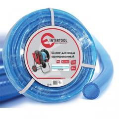Шланг для воды 3-х слойный 1/2, 50м, армированный PVC Intertool GE-4056