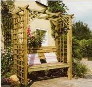 Pergola garden wooden
