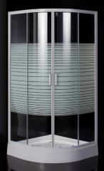 Душевая кабина на мелком поддоне, профиль белый, стекло EGER TISZA Frizеk (AMUR) (599-021/1)