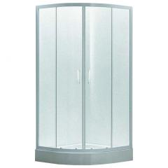 Душевая кабина 80*80*200 см, на мелком поддоне, профиль белый, стекло EGER TISZA Zuzmara (599-020)