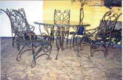 Кованая мебель. Кованые скамейки. Кованые столы