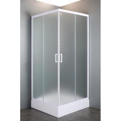 """VI`Z квадратная душевая кабина 80~90*185 см, регулируемый белый профиль, стекло """"Zuzmara"""" (стекла+двери)"""