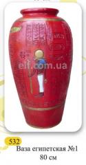 Egyptian vase decorative floor, height 80 cm