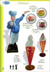Фигуры набивные Повар, Мороженое, Блюда