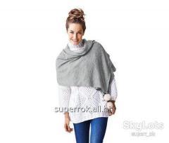 Сірий трикотажний шарф вiд TCM TCHIBO