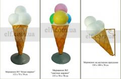 Layout ice cream for advertising