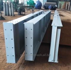 Beam welded to steel structures, crane ruts,