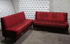 Sofas, chairs, leather corners for bars, cafe,
