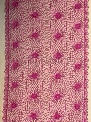 Кружево вышивка на сетке розовое 842-23