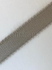Бретелечная резинка (эластичная ,плоская) горчично серая 322-15