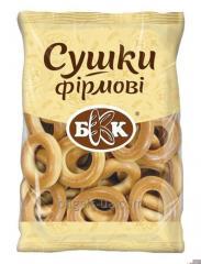 Especialidades de secagem. Peso - 300g Feito com massa de pão de trigo doce. Ele não contém gorduras animais. De acordo com GOST.