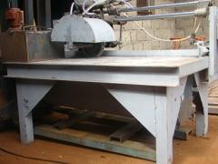 The machine for cutting of stone