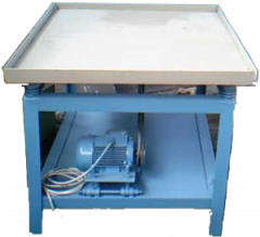 Vibrotable for production of fences, composite