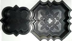 Форма тротуарной плитки Клевер декор. Формы для