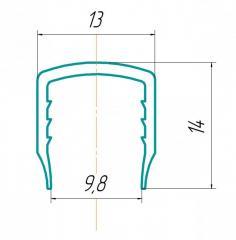 Профиль торцевой 10мм