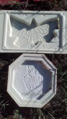 Пластиковые формы для производства тротуарной