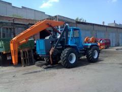 Burilno crane car of BKM, Yamobur stolbostav