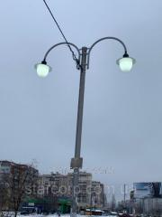 Скоба Орлан улична лампа 2 rozhkovyj