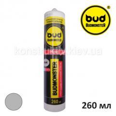 Герметик силиконовый универсальный Budmonster Prime, 260 мл (серый)