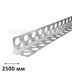 ГК Уголок штукатурный алюминиевый, 2,5 м (перфорированный)