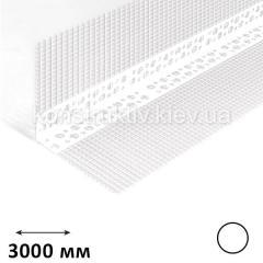ГК Уголок штукатурный с сеткой (контрашульц), 3,0 м (пластиковый)