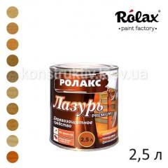 Лазурь алкидная для дерева Ролакс Premium, 2,5 л