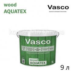 Лак для дерева водоразбавляемый Vasco wood AQUATEX, 9 л (декоративный)