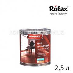 Лак для дерева Ролакс Паркетный, 2,5 л (полиуретановый)
