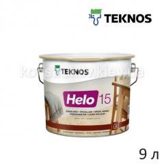 Лак для дерева специальный Teknos, HELO 15 (Хело 15), 9л (матовый)
