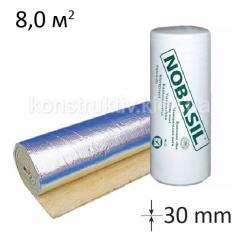 Минеральная вата Nobasil LSP35 фольг (30мм*1000*8000) 8м.кв.