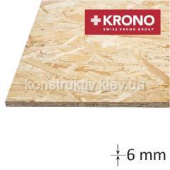 ОSB плита КРОНО (1250*2500*6) влагостойкая